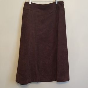 Liz Claiborne ~ Brown Faux Suede Skirt